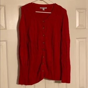Old Navy Red Sweater button down 2xl